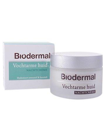 Biodermal Nachtcrème vochtarme huid (50m)