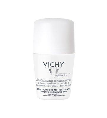 Vichy Deodorant Gevoelige of Geëpileerde Huid Roller (50ml)