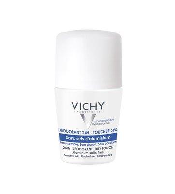 Vichy Deodorant Reactieve Huid roller - Droog effect zonder aluminiumzouten (50ml)