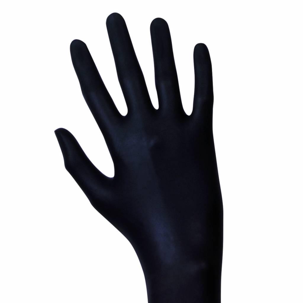 Unigloves Unigloves Black Mamba Latex Einweghandschuhe puderfrei schwarz