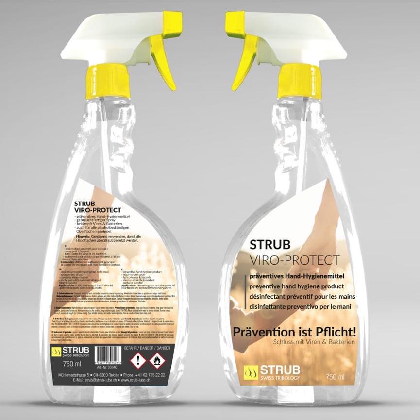 STRUB VIRO-PROTECT Desinfektionsmittel Hände 750ml