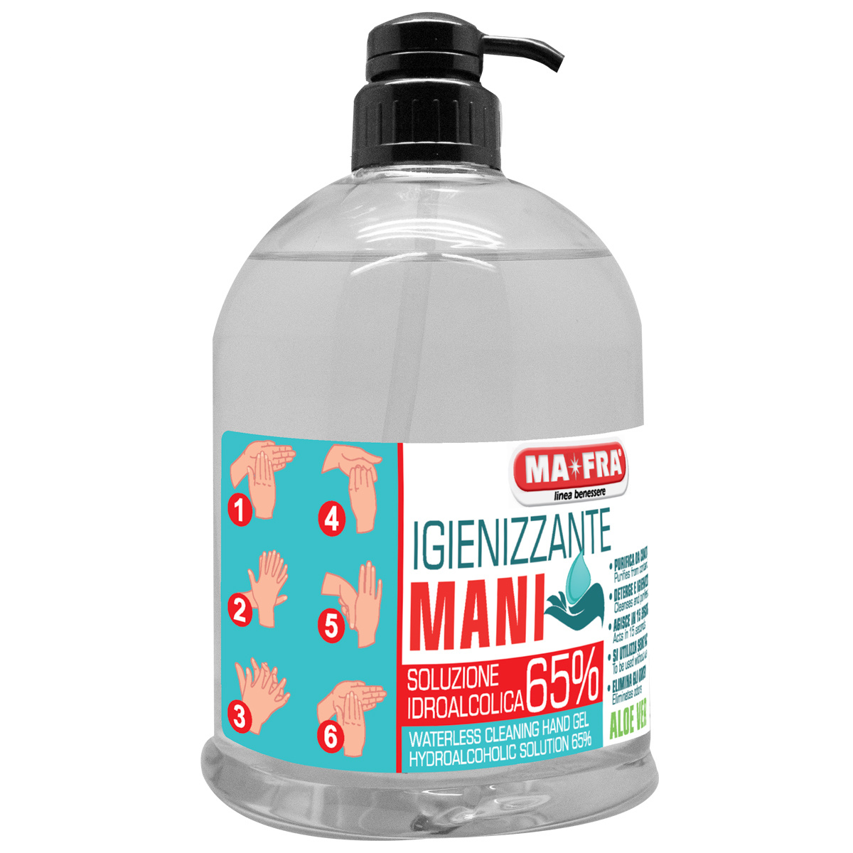 Labocosmetica  Ma-Fra Hand-Desinfektionsmitte Gel 500ml