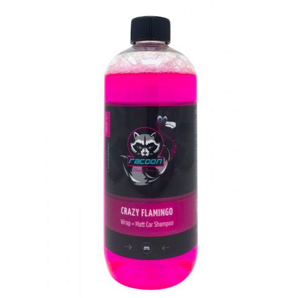 Racoon Cleaning  Racoon Cleaning CRAZY FLAMINGO Wrap + Matt Car Shampoo
