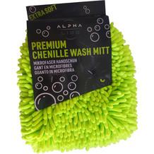 ALPHA LINE Chenille Mikrofaser Waschhandschuh
