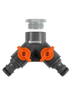 """Gardena 2-weg ventiel 26,5 mm (G 3/4"""") / 21 mm (G 1/2"""")"""