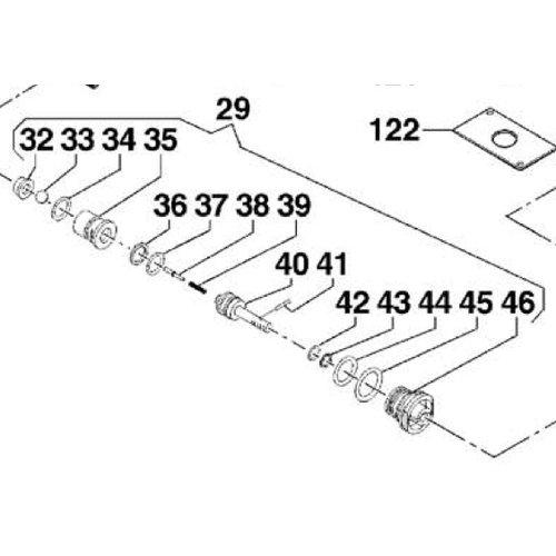 Comet hogedrukreinigers 1215 0337 - unloader valve kit