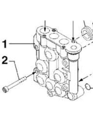 Comet hogedrukreinigers Comet onderdeel - 3218 0114 - Brass pump manifold