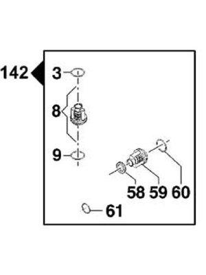 Comet hogedrukreinigers Comet onderdeel - 5025 0019 - Suction/delivery kit