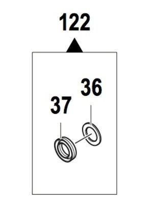 Comet hogedrukreinigers 5026 0256 - Piston seal kit 14