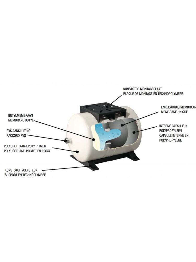 DAB pumps DAB AQUAJET-INOX 82 M - G - 3600 l/h - 0,8 pk