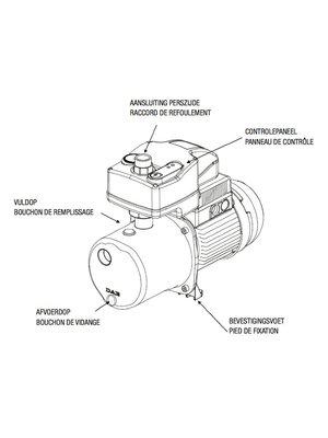 DAB pumps DAB ACTIVE J 82 M Zelfaanzuigende centrifugaalpomp