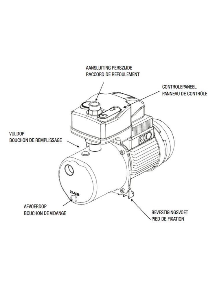 DAB pumps DAB ACTIVE JI 132 M - 4800 l/h - 1,36 pk