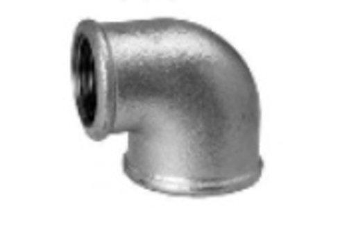 090R Reductie bocht 90° V/V - galva