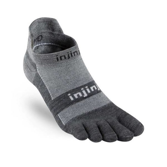 Run Lightweight No-Show NüWool - Charcoal