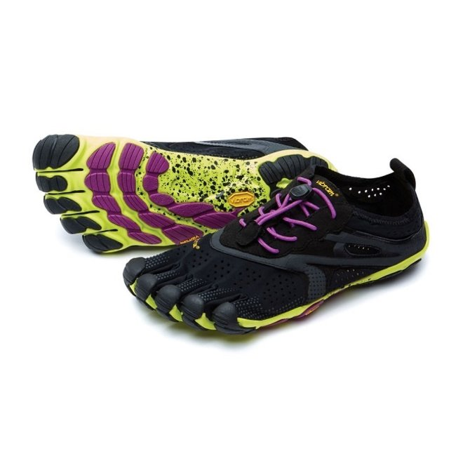 V-Run - Black/yellow - vrouwen