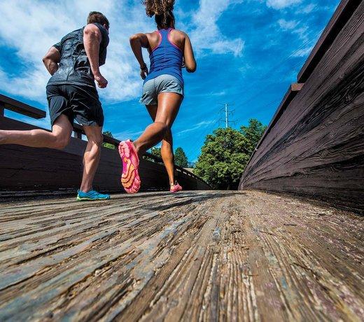 V-Run: chaussure de course pieds nus