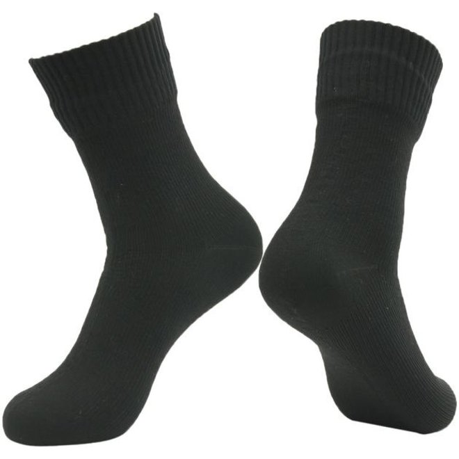 Waterproof Sock - Black - Mid-calf - RS12