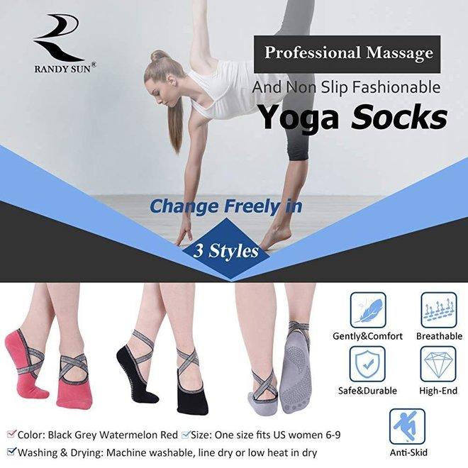 Chaussettes de yoga (set de 3)