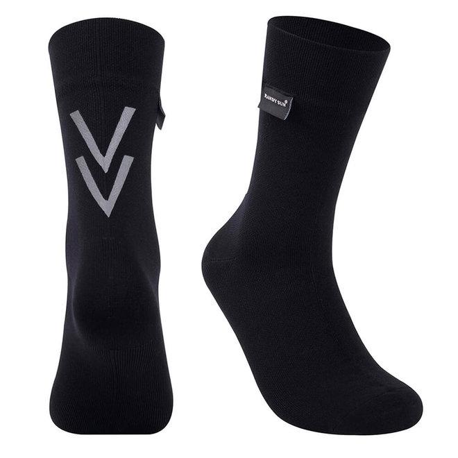 Waterproof Sock - Black - Merino - Mid-calf - RS126