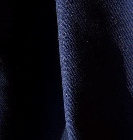 gabardine cotton – linen navy blue 0,50m