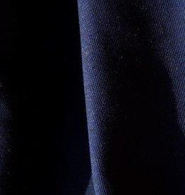 gabardine katoen-linnen marine 0,50m