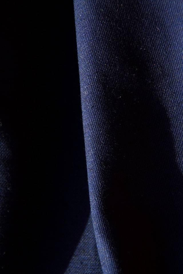 gabardine cotton – linen, navy blue