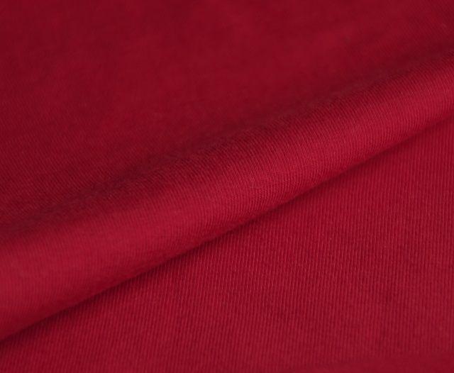 jersey stretch van biologische katoen, tango red