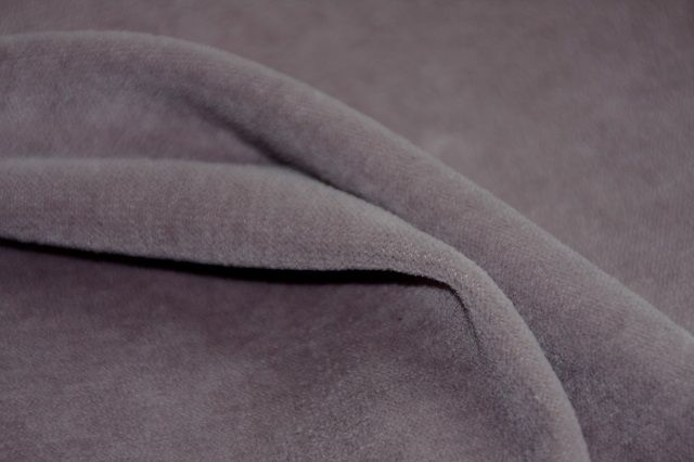 organic cotton velour, grey