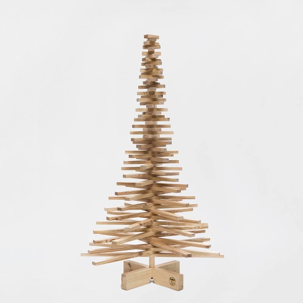 Houten kerstboom grenen