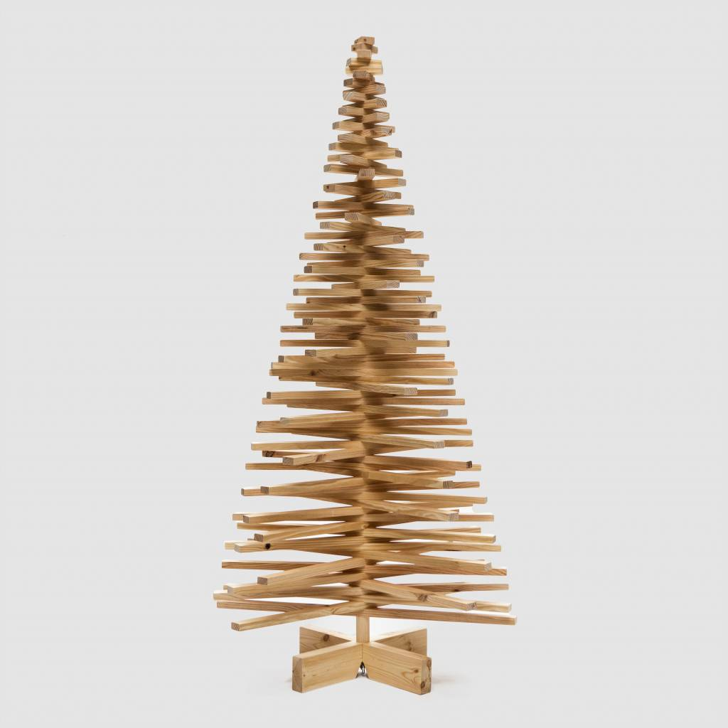 Houten kerstboom grenenhout