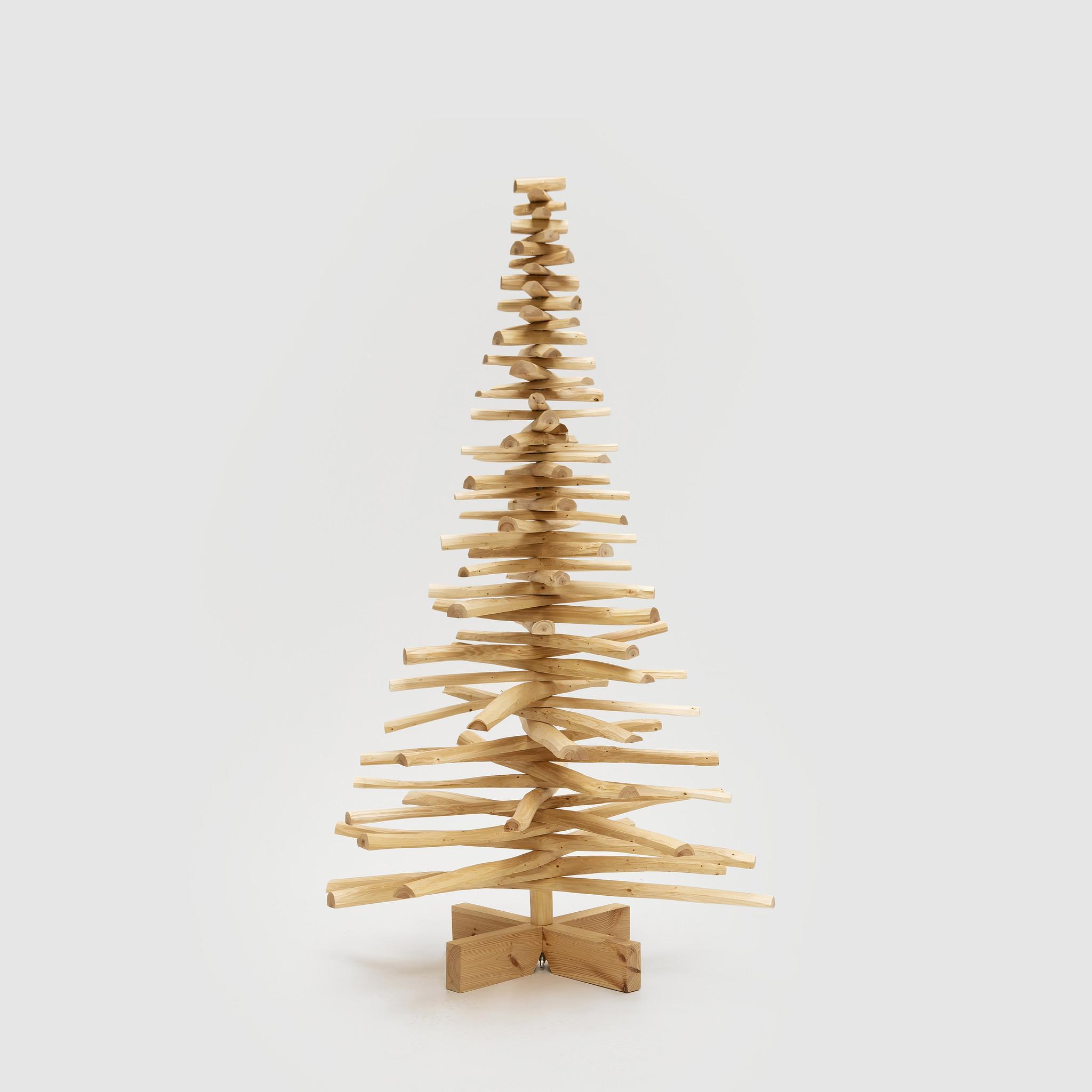 Houten kerstboom douglas takken