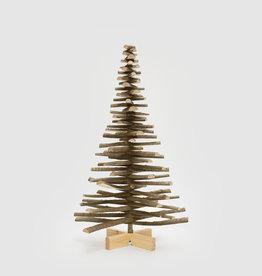 Houten kerstboom met bast