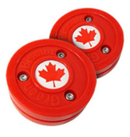 "Bauer Green Biscuit ""Canada"" Puck"