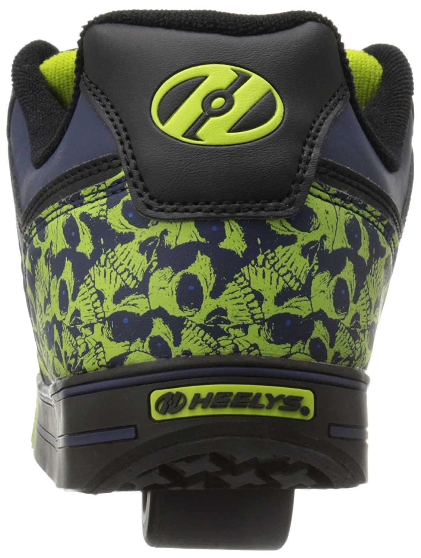 Heely's Heelys Motion Plus Black Navy Lime skulls