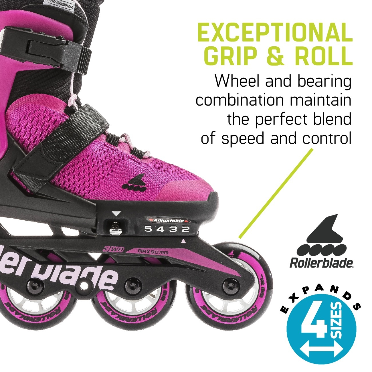 Rollerblade Rollerblade Microblade G Pink / Bubble Gum