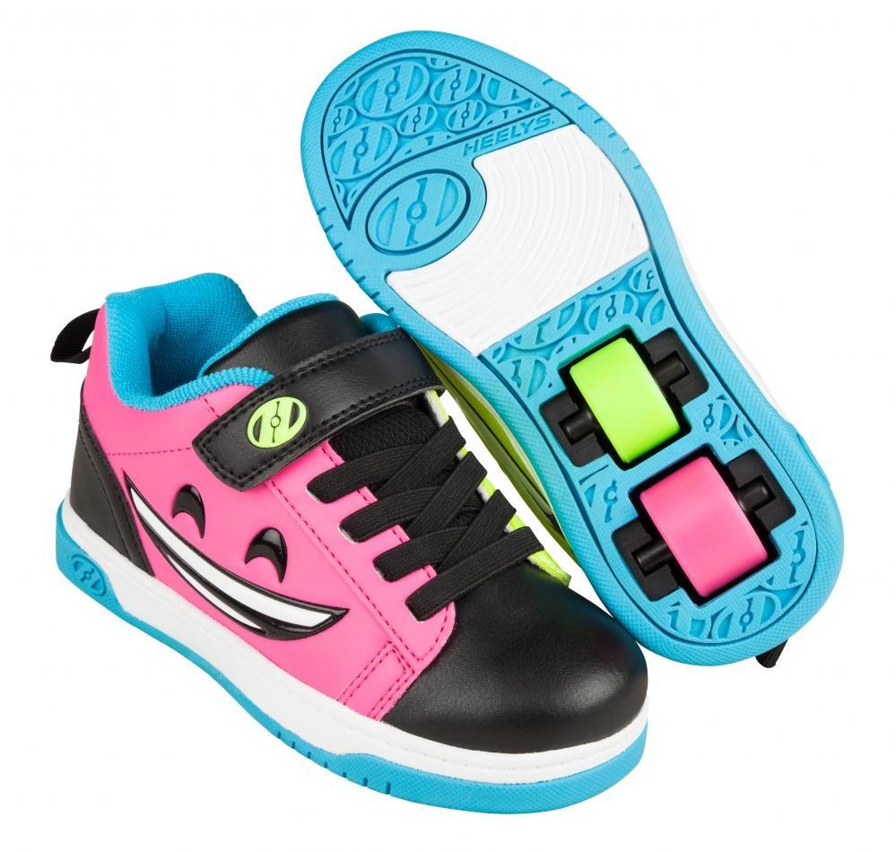 Heely's Heelys Dual Up X2 Black/Hot Pink/Cyan/Yellow