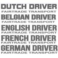 Fairtrade transport sticker 2 pieces