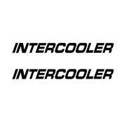 Intercooler sticker 2pcs inside