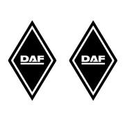 Aufkleber Raute DAF 2st draußen