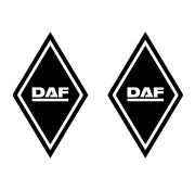 Sticker diamond DAF 2pcs outside