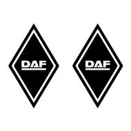 Sticker ruit DAF 2st buitenplak