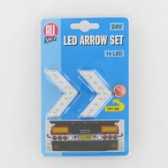 All Ride LED-Neonpfeil-Set Rot