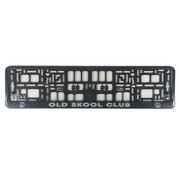 License plate holder Old skool club