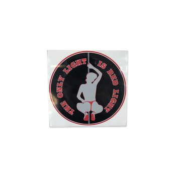 Sticker - The only light is red light - zittend