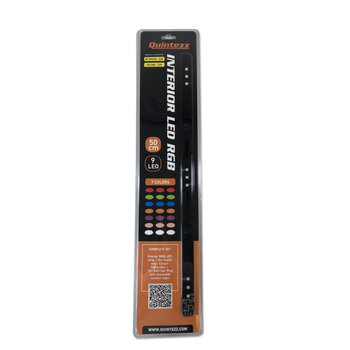 Quintezz Lichtbalk zuignap 12/24V met 7 kleuren - 50 cm - 9 LED