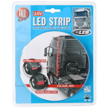 LED strip red 24V with braking function 2.5M