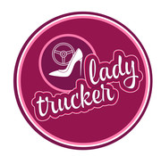 Sticker Lady Trucker 20cm