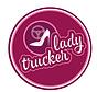 Sticker Lady Trucker 20cm