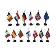 Dashboard vlaggetjes - Set van 1 vlag + voet - Verschillende landen