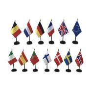 Dashboard-Flaggen - Set mit 1 Flagge + Fuß - Verschiedene Länder